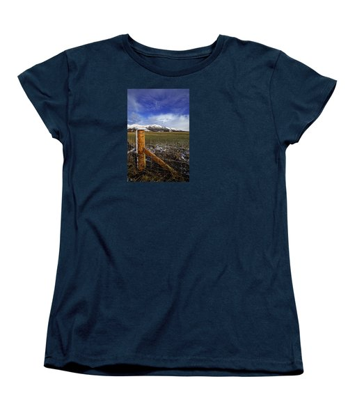 Women's T-Shirt (Standard Cut) featuring the photograph The Ochils In Winter by Jeremy Lavender Photography