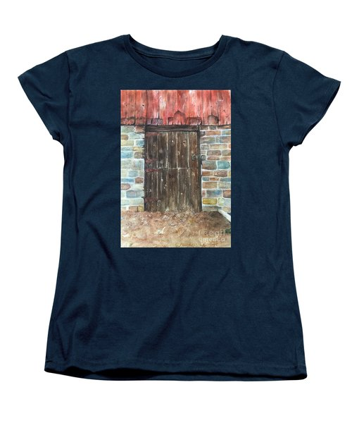 The Old Barn Door Women's T-Shirt (Standard Cut) by Lucia Grilletto