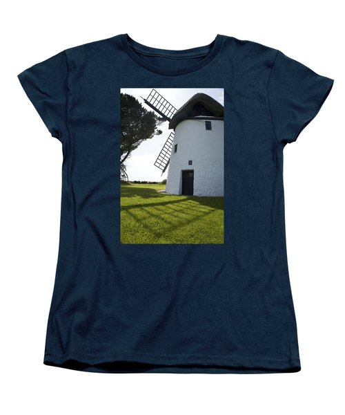 Women's T-Shirt (Standard Cut) featuring the photograph The Old Irish Windmill by Ian Middleton