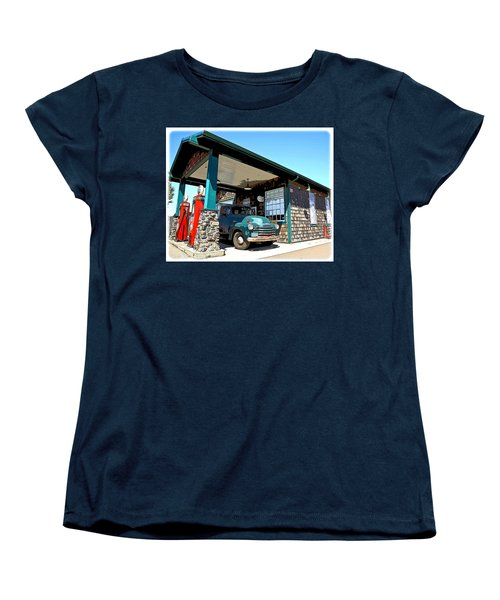 The Old Texaco Station Women's T-Shirt (Standard Cut) by Steve McKinzie