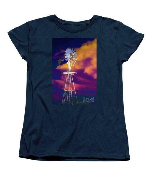 The Old Windmill  Women's T-Shirt (Standard Cut) by Toma Caul