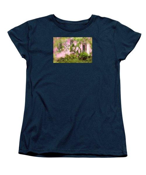 The Olde Pink House In Savannah Georgia Women's T-Shirt (Standard Cut) by Carla Parris