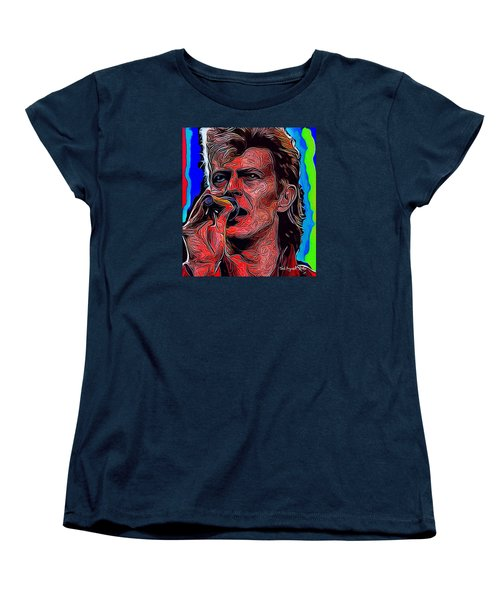 The One, The Only, David Bowie Women's T-Shirt (Standard Cut) by Ted Azriel