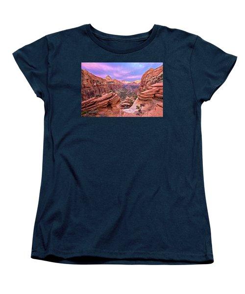 Women's T-Shirt (Standard Cut) featuring the photograph The Overlook by Eduard Moldoveanu