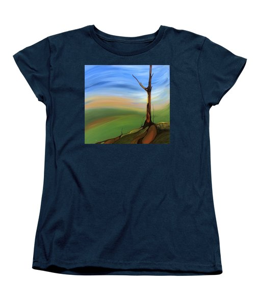 The Painted Sky Women's T-Shirt (Standard Cut) by Pat Purdy