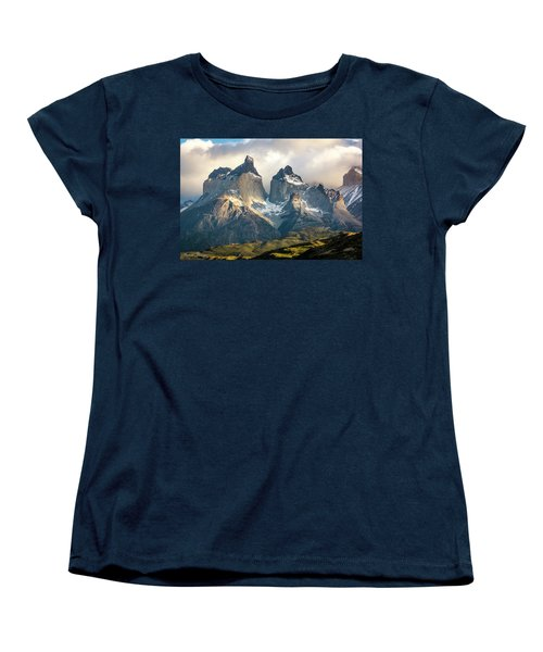 The Peaks At Sunrise Women's T-Shirt (Standard Cut) by Andrew Matwijec