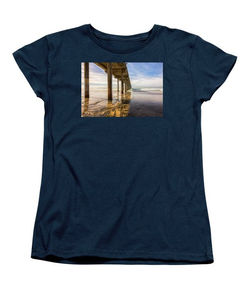 The Pier And Its Shadow Women's T-Shirt (Standard Cut) by Joseph S Giacalone