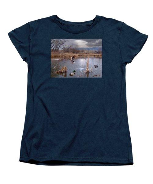 The Pond Women's T-Shirt (Standard Cut) by Bill Stephens