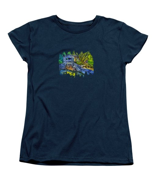 Women's T-Shirt (Standard Cut) featuring the photograph Blakes Pond House by Thom Zehrfeld