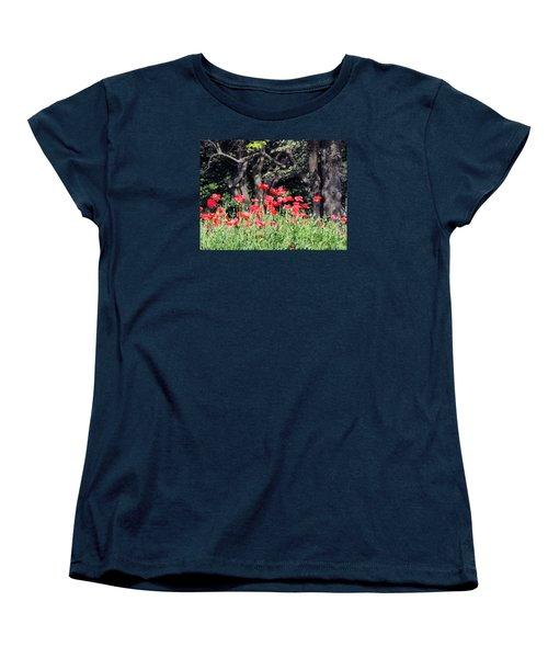 The Poppy Garden Women's T-Shirt (Standard Cut) by Teresa Schomig