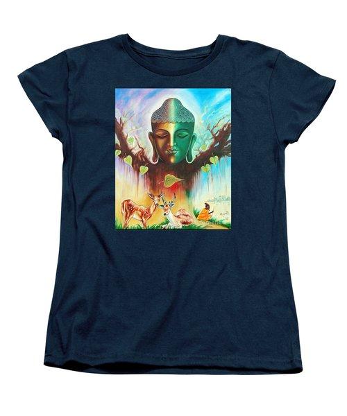 The Power Of Buddha Women's T-Shirt (Standard Cut) by Ragunath Venkatraman