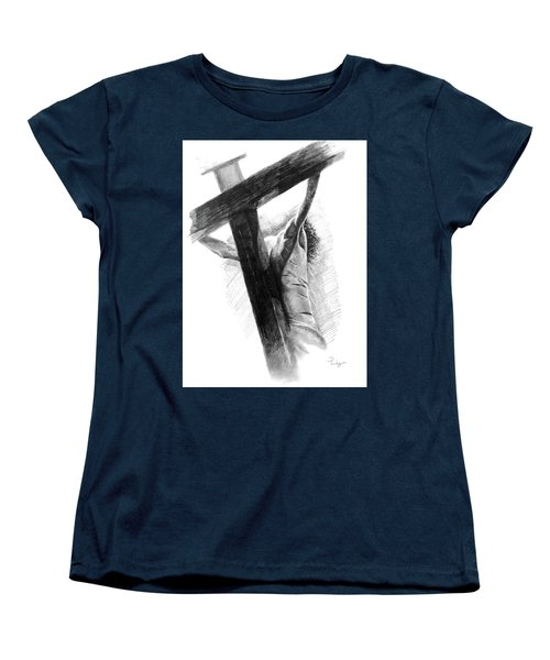 Women's T-Shirt (Standard Cut) featuring the drawing The Promise by Noe Peralez