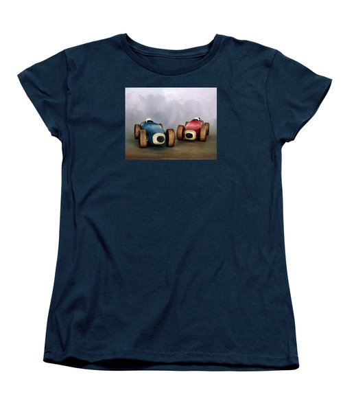 The Race Women's T-Shirt (Standard Cut) by David and Carol Kelly