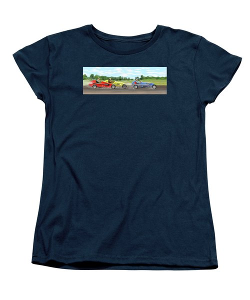 Women's T-Shirt (Standard Cut) featuring the digital art The Racers by Gary Giacomelli