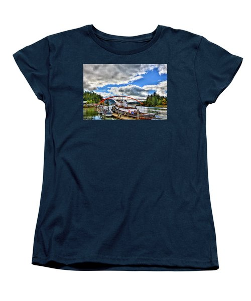 The Rainbow Bridge - Laconner Washington Women's T-Shirt (Standard Cut) by David Patterson