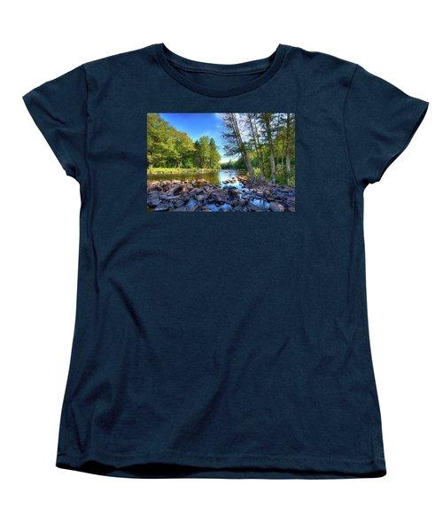 The Raquette River Women's T-Shirt (Standard Cut) by David Patterson