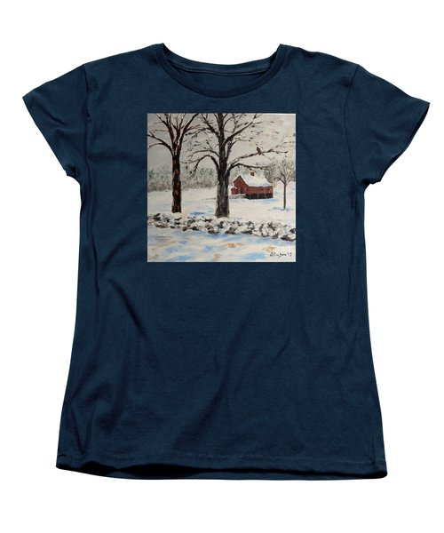 The Red Barn Women's T-Shirt (Standard Cut) by Stanton Allaben