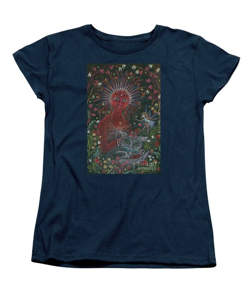 Women's T-Shirt (Standard Cut) featuring the drawing The Red Queen by Dawn Fairies