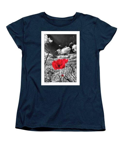The Red Spot Women's T-Shirt (Standard Cut) by Arik Baltinester