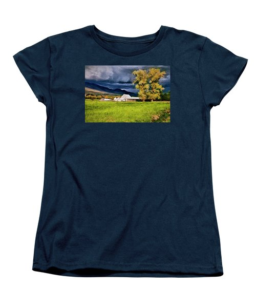 The Right Place At The Right Time Women's T-Shirt (Standard Cut) by James Steele