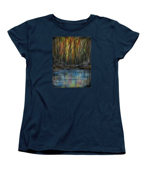Women's T-Shirt (Standard Cut) featuring the digital art The River Side by Darren Cannell