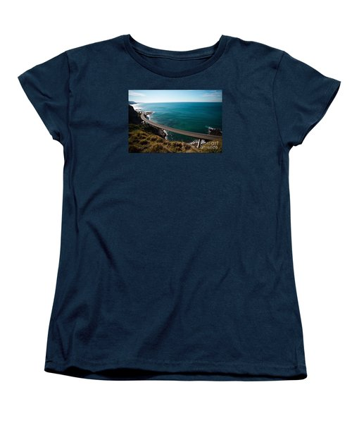 The Road Above The Sea Women's T-Shirt (Standard Cut) by Bev Conover