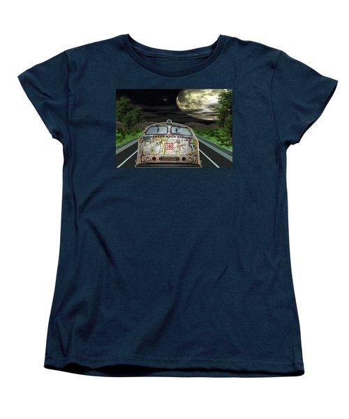 The Road Trip Women's T-Shirt (Standard Cut) by Angela Hobbs