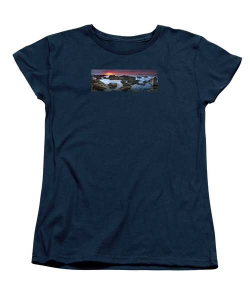 Women's T-Shirt (Standard Cut) featuring the photograph The Rock Labyrinth by John Chivers
