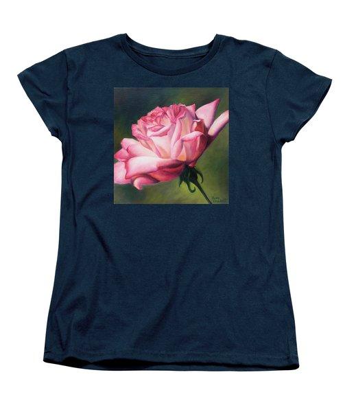 Women's T-Shirt (Standard Cut) featuring the painting The Rose by Lori Brackett