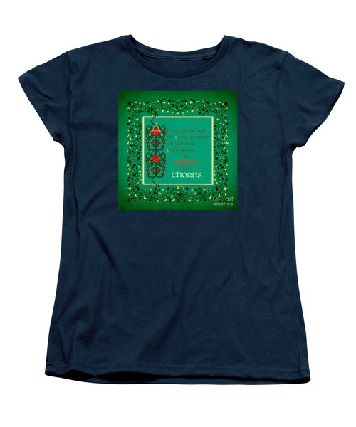 Women's T-Shirt (Standard Cut) featuring the digital art The Roses Had Thorns by Donna Huntriss