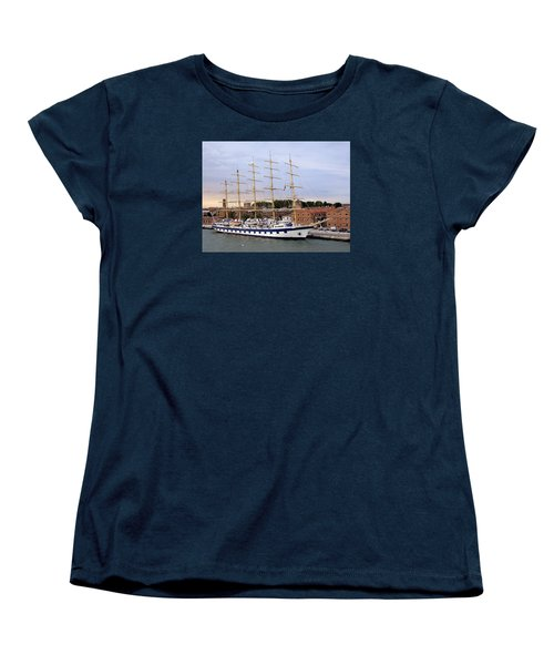 The Royal Clipper Docked In Venice Italy Women's T-Shirt (Standard Cut) by Richard Rosenshein