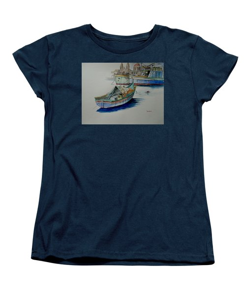 Women's T-Shirt (Standard Cut) featuring the painting The San George by Ray Agius