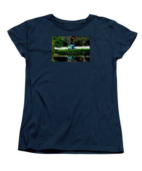 Women's T-Shirt (Standard Cut) featuring the digital art The Cemetery  by Michael Rucker