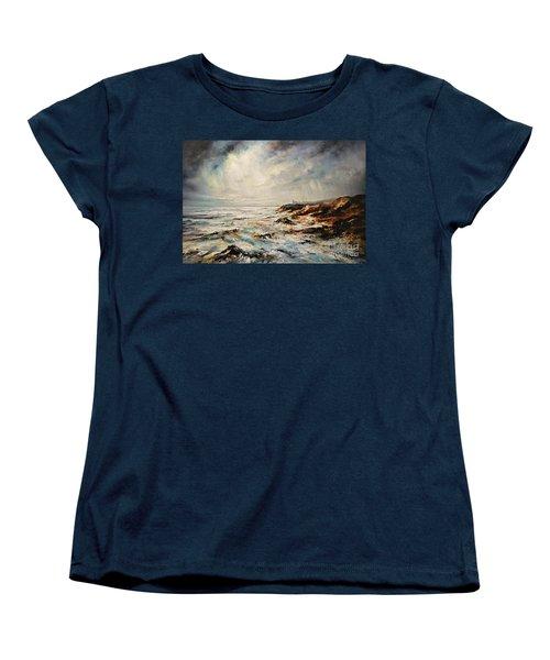 The Sea  Women's T-Shirt (Standard Cut) by AmaS Art
