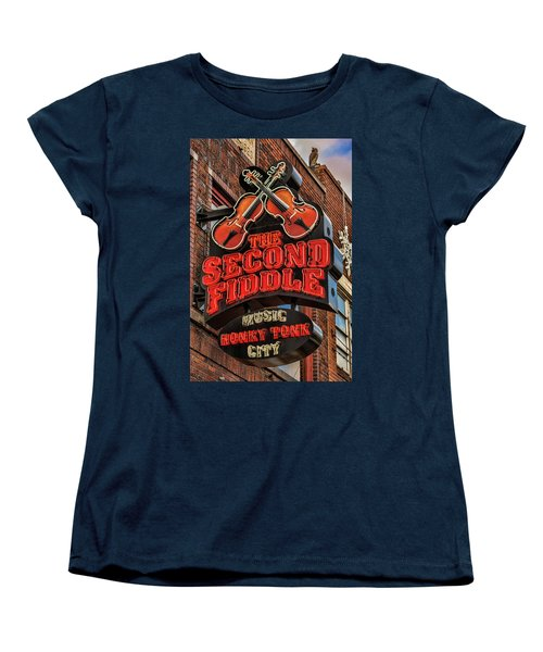 Women's T-Shirt (Standard Cut) featuring the photograph The Second Fiddle Nashville by Stephen Stookey