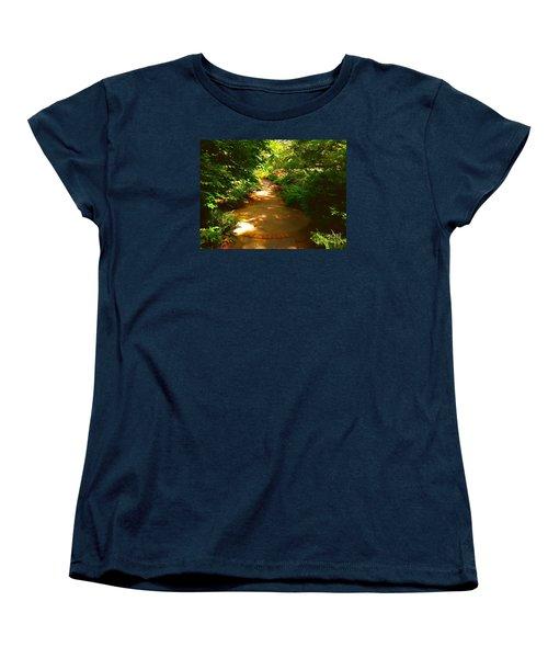 The Secret Path Women's T-Shirt (Standard Cut) by Becky Lupe