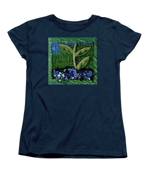The Seedling Women's T-Shirt (Standard Cut) by Donna Blackhall