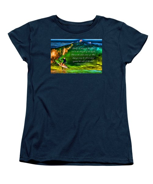 Women's T-Shirt (Standard Cut) featuring the photograph The Shadow Within With Bible Verse by John A Rodriguez