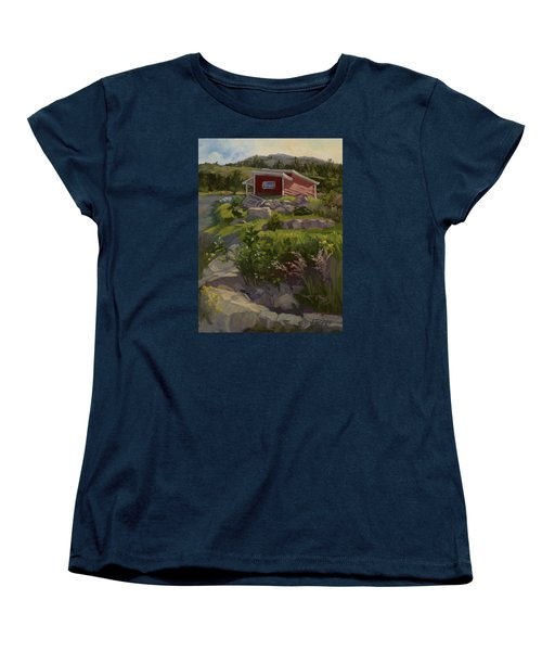 The Shed Women's T-Shirt (Standard Cut) by Jane Thorpe