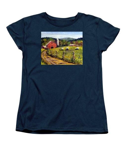 The Sheep Farm Women's T-Shirt (Standard Cut) by Jim Phillips
