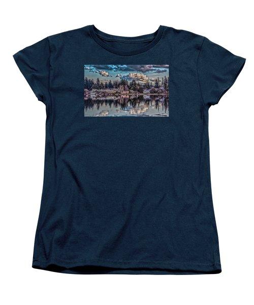 Women's T-Shirt (Standard Cut) featuring the digital art The Shore by Timothy Latta
