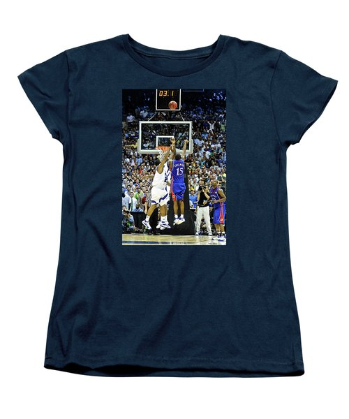 The Shot, 3.1 Seconds, Mario Chalmers Magic, Kansas Basketball 2008 Ncaa Championship Women's T-Shirt (Standard Cut)