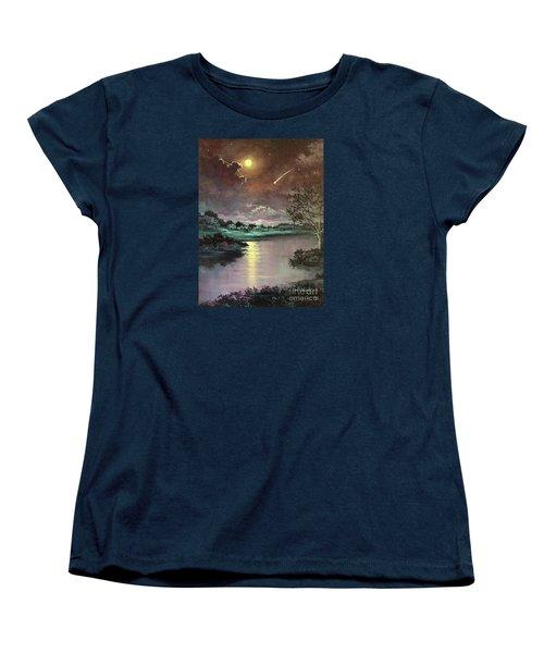 The Silence Of A Falling Star Women's T-Shirt (Standard Cut) by Randy Burns