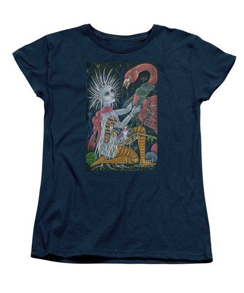 Women's T-Shirt (Standard Cut) featuring the drawing The Snow Queen by Dawn Fairies