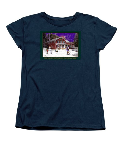 The South Woodstock Country Store Women's T-Shirt (Standard Cut) by Nancy Griswold