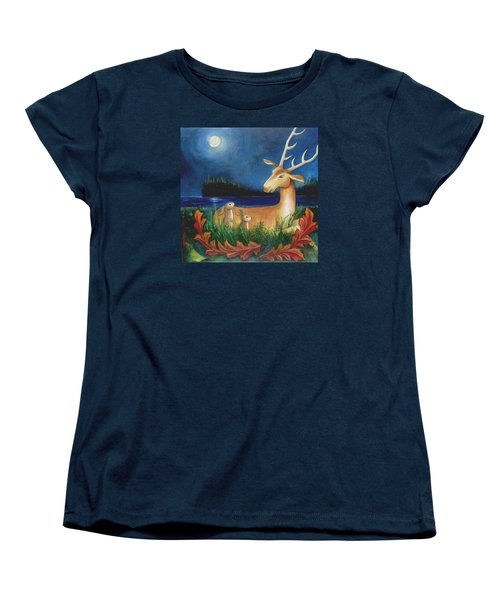 Women's T-Shirt (Standard Cut) featuring the painting The Story Keeper by Terry Webb Harshman