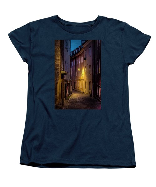 Women's T-Shirt (Standard Cut) featuring the photograph The Streets Of Salzburg by David Morefield