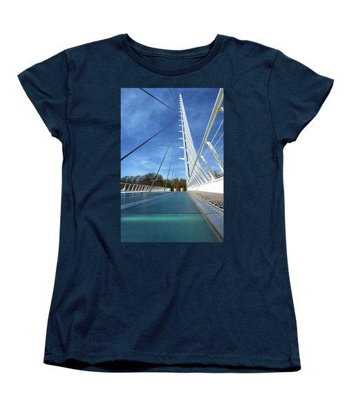 The Sundial Bridge Women's T-Shirt (Standard Cut) by James Eddy