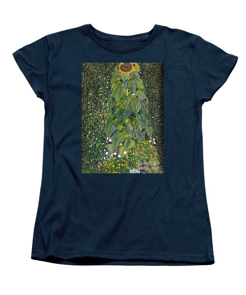 The Sunflower Women's T-Shirt (Standard Cut) by Klimt