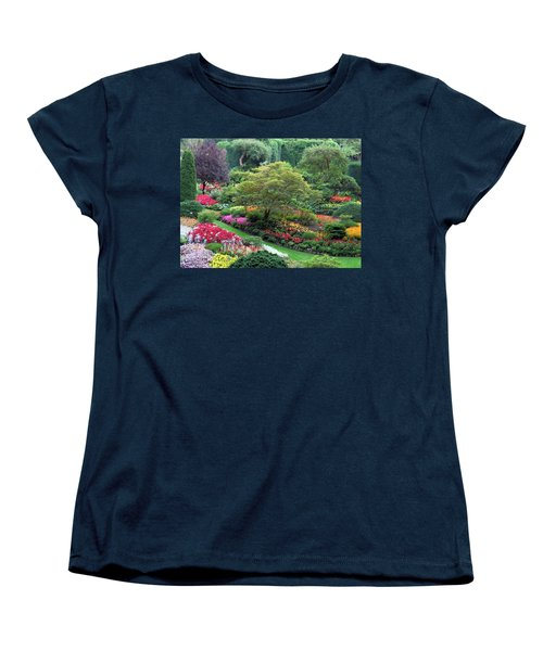 The Sunken Garden At Dusk Women's T-Shirt (Standard Cut) by Betty Buller Whitehead